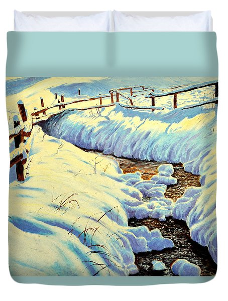 Winter Brook Duvet Cover