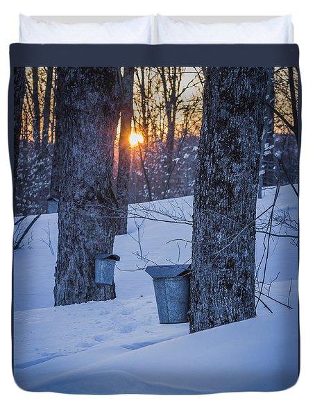 Winter Buckets Duvet Cover