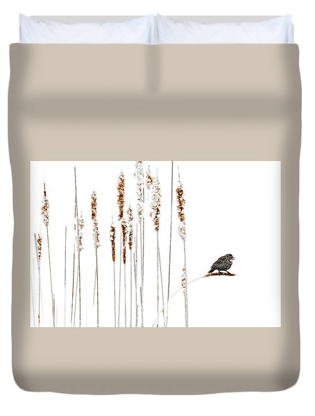 Winter Came Suddenly Duvet Cover by Andrea Kollo