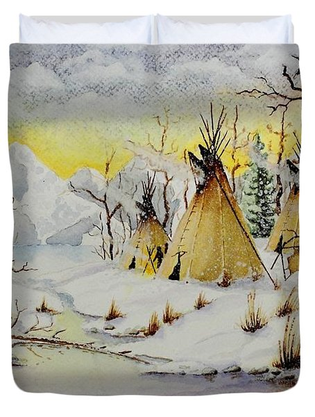 Winter Camp Duvet Cover