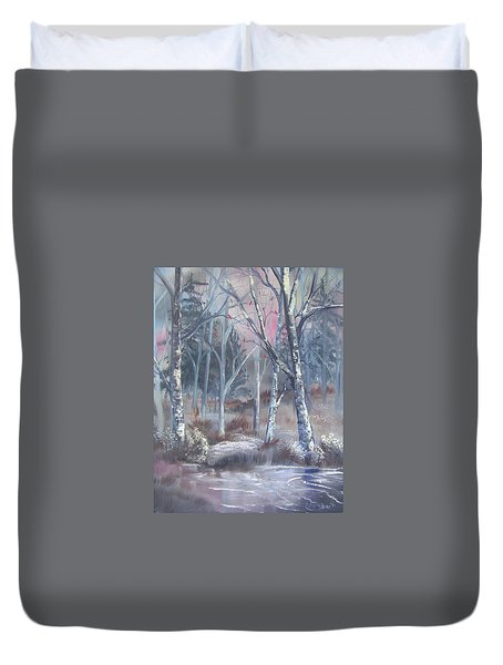 Winter Cardinals Duvet Cover