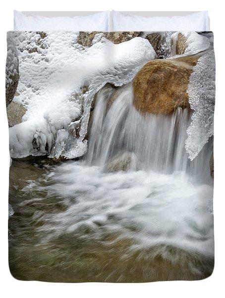 Winter Cascade Nh Duvet Cover