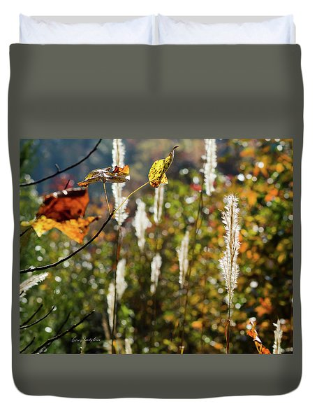 Duvet Cover featuring the photograph Winter Color by George Randy Bass
