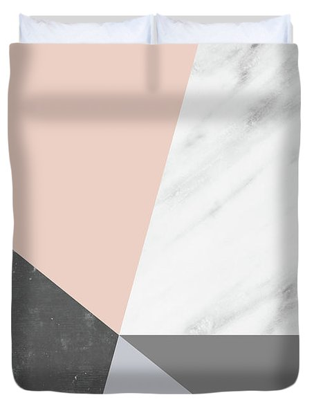 Winter Colors Collage Duvet Cover