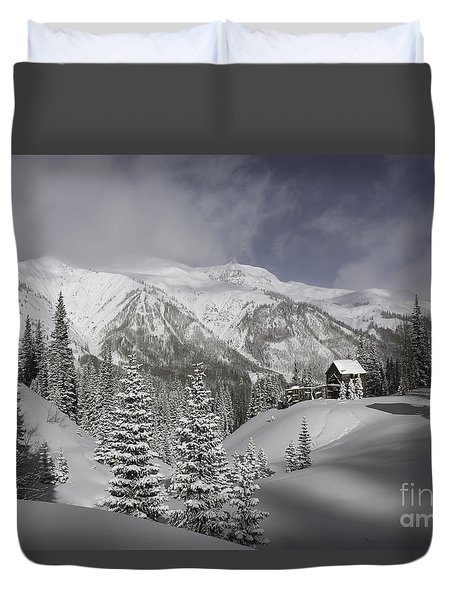 Winter Comes Softly Duvet Cover