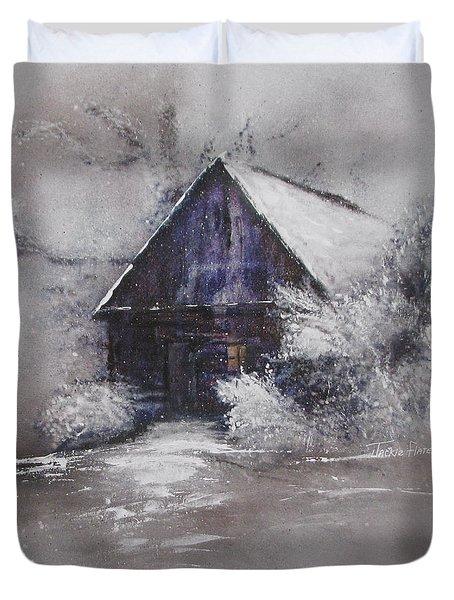 Winter Cottage Duvet Cover