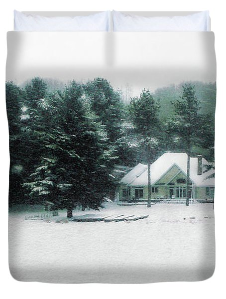 Winter Cottage Duvet Cover