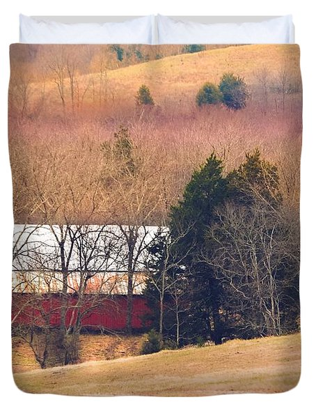 Winter Day On A Tennessee Farm Duvet Cover