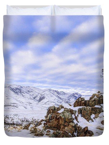 Winter Desert Duvet Cover