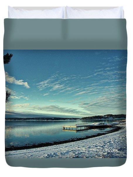 Winter Dock Duvet Cover