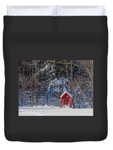 Winter, Down East Maine  Duvet Cover
