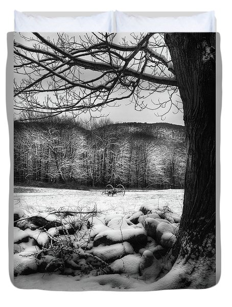 Duvet Cover featuring the photograph Winter Dreary by Bill Wakeley