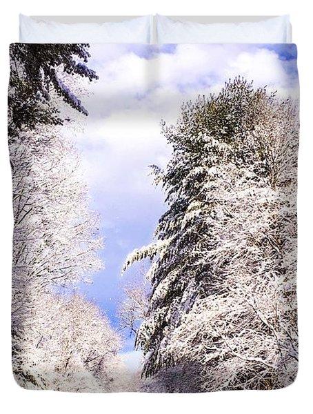 Winter Drive Duvet Cover