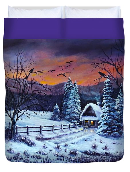 Winter Evening 2 Duvet Cover