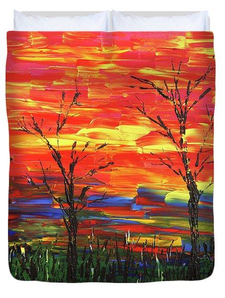 Winter Evening Duvet Cover by Erik Tanghe