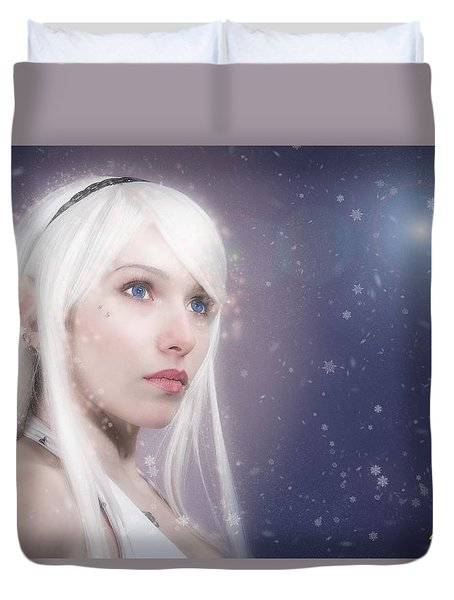 Winter Fae Duvet Cover by Rikk Flohr