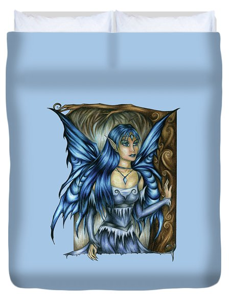 Winter Fairy Drawing Duvet Cover