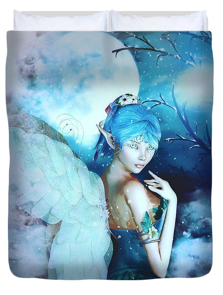 Winter Fairy In The Mist Duvet Cover