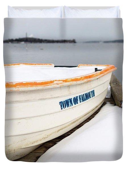 Winter, Falmouth, Maine  -18674 Duvet Cover