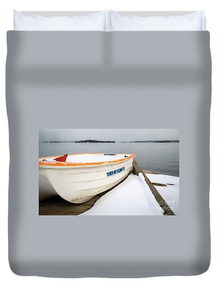 Winter, Falmouth, Maine  -18674 Duvet Cover