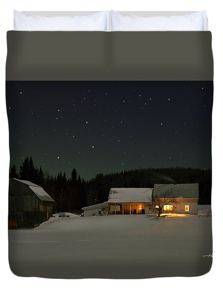 Winter Farmhouse Duvet Cover