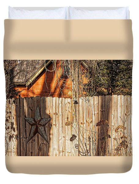 Winter Fence Duvet Cover