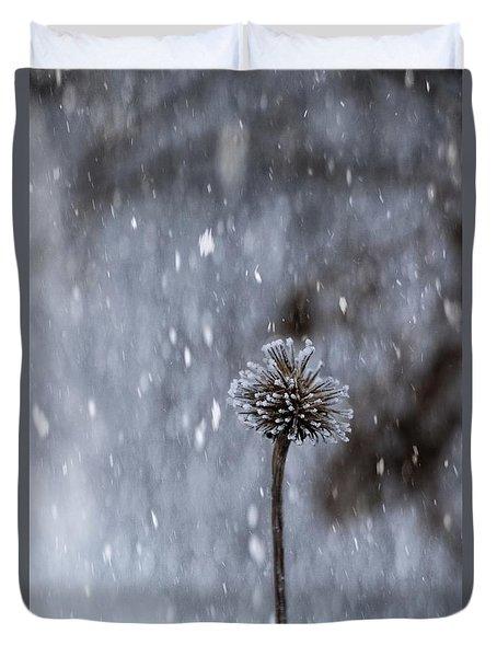 Winter Flower Duvet Cover