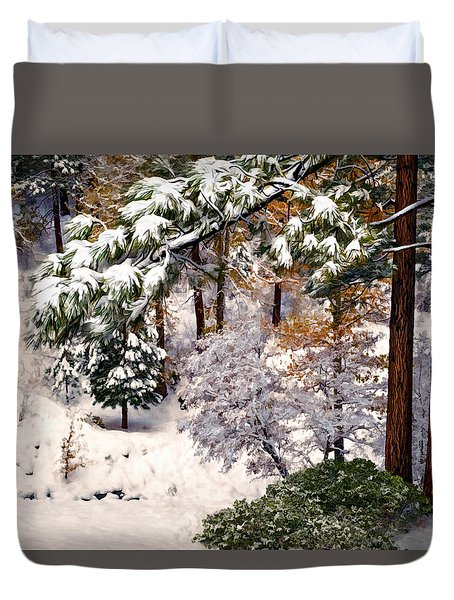 Winter Forest Duvet Cover