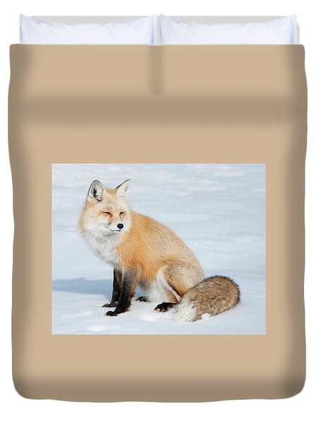 Winter Fox Duvet Cover