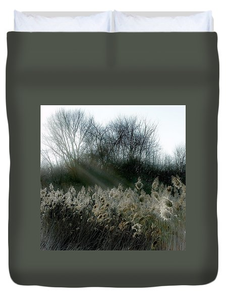 Duvet Cover featuring the photograph Winter Fringe by Kendall McKernon
