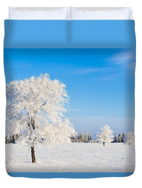 Winter Frostland Duvet Cover