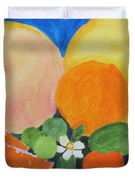 Winter Fruit Duvet Cover by Sandy McIntire