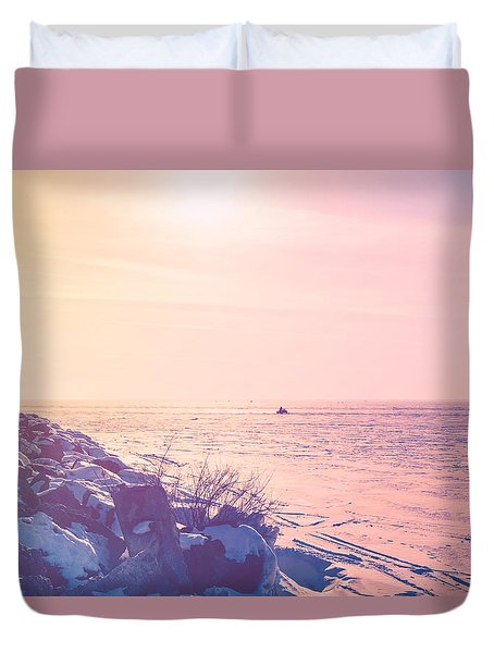 Duvet Cover featuring the photograph Winter Fun by Joel Witmeyer