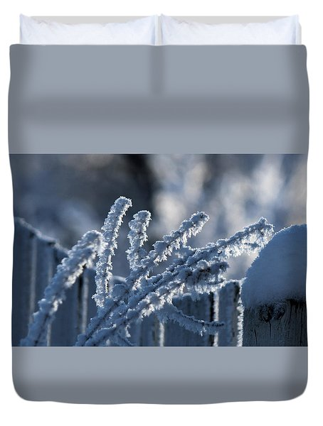 Duvet Cover featuring the photograph Quest For Heartiness by Silke Brubaker