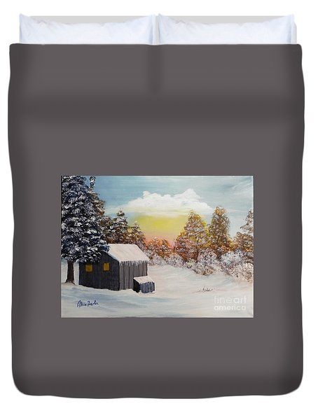 Winter Getaway Duvet Cover
