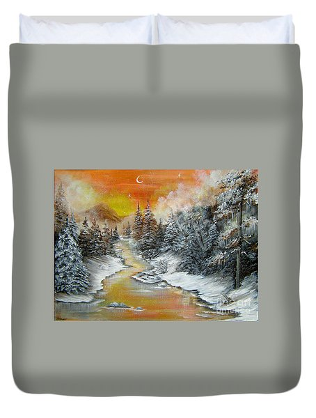 Another Cold And Windy Day  Duvet Cover