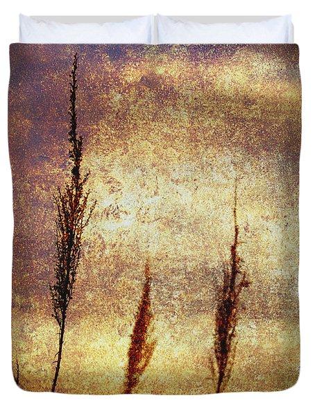Winter Gold Duvet Cover by Skip Nall