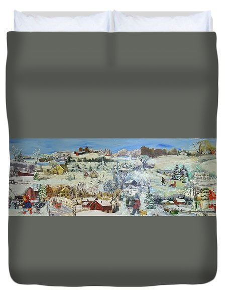 Winter Goose - Sold Duvet Cover by Judith Espinoza