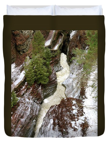 Winter Gorge Duvet Cover