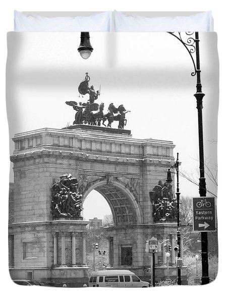 Winter Grand Army Plaza Duvet Cover