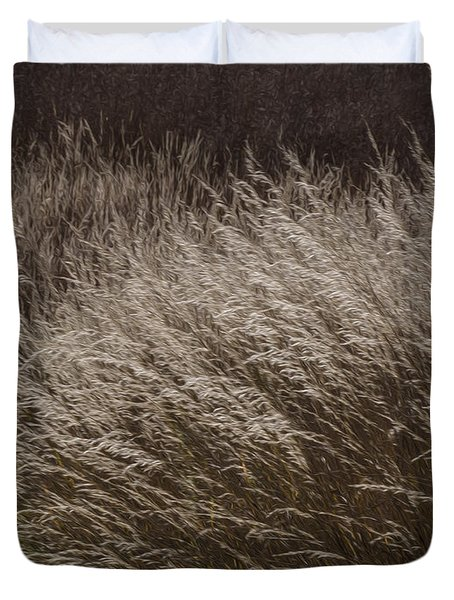 Winter Grass Duvet Cover