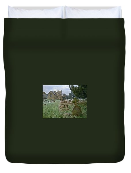 Winter Graveyard Duvet Cover