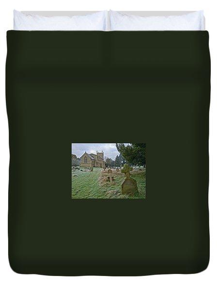Winter Graveyard Duvet Cover by Anne Kotan