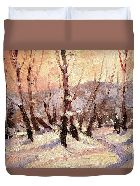 Winter Grove Duvet Cover
