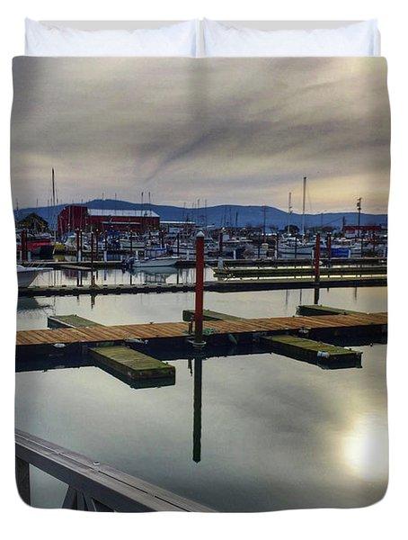Winter Harbor Duvet Cover