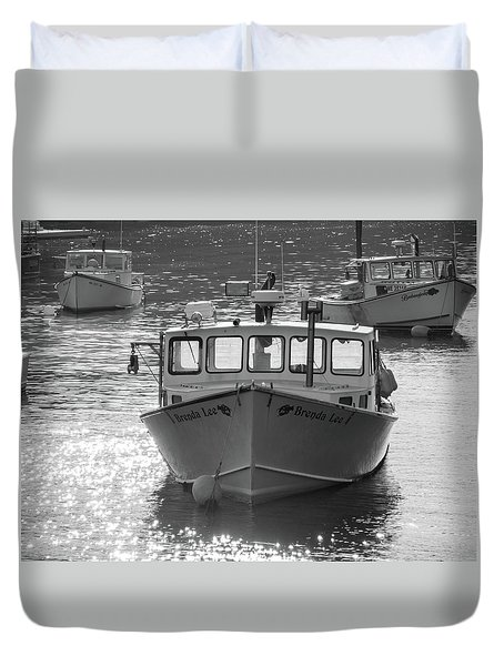 Winter Harbor, Maine  Duvet Cover