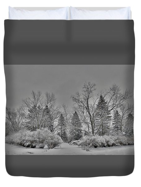 Winter Harmony Duvet Cover by Teresa Schomig