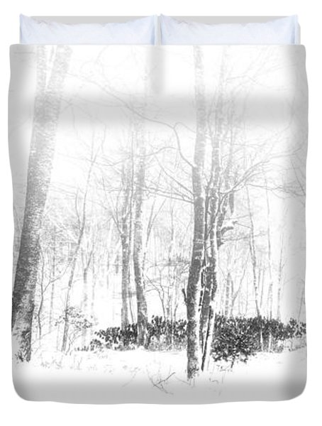 Snowy Forest - North Carolina Duvet Cover