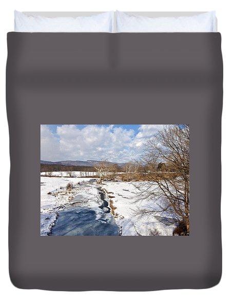 Winter Hike Duvet Cover