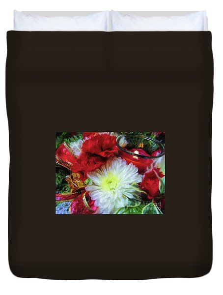Duvet Cover featuring the photograph Winter Holiday  by Peggy Hughes